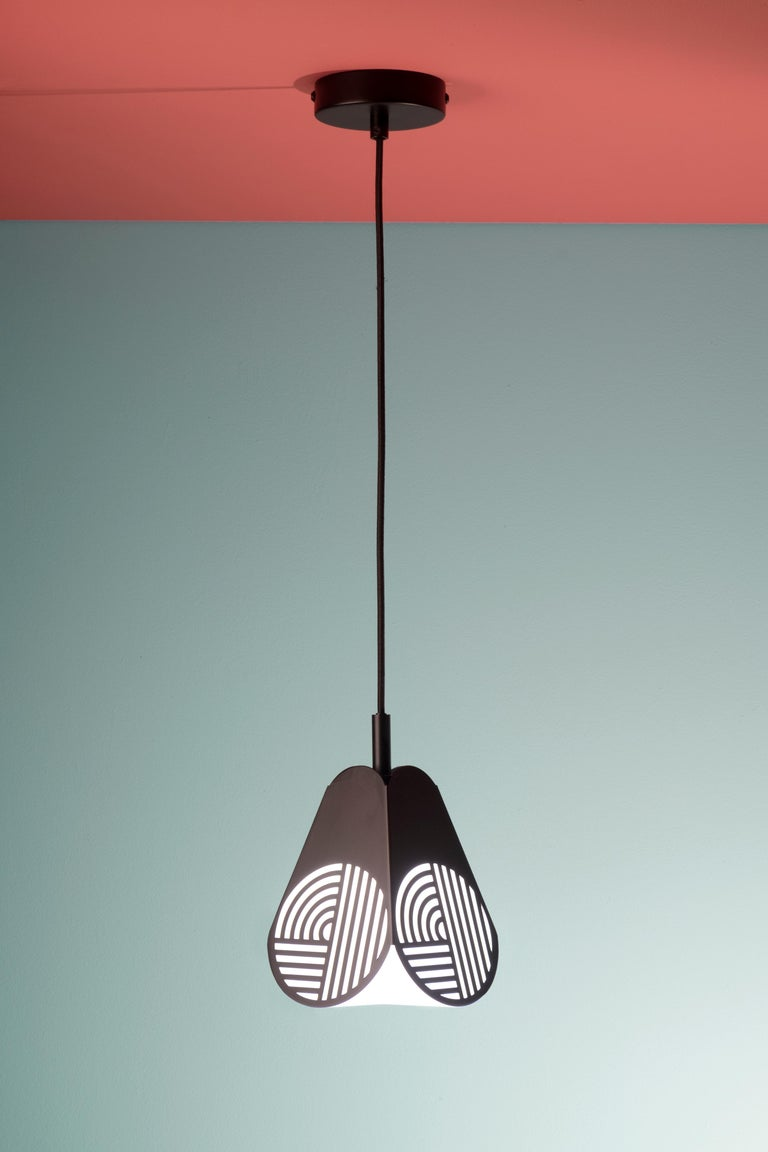Iron Ensemble of Notic Pendant Lamps by Bower Studio For Sale