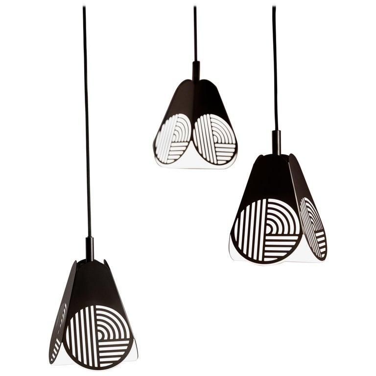 Ensemble of Notic Pendant Lamps by Bower Studio For Sale