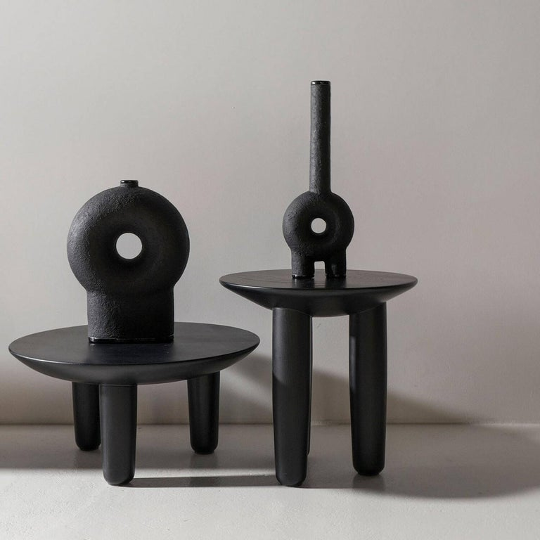 Ensemble of Sculpted Ceramic Vases by Victoria Yakusha For Sale 12