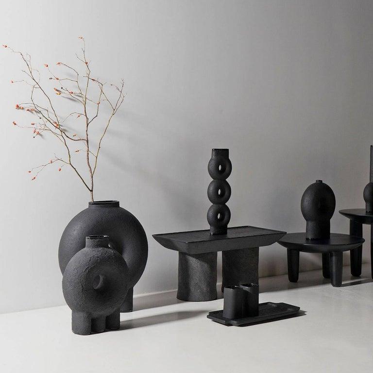 Ukrainian Ensemble of Sculpted Ceramic Vases by Victoria Yakusha For Sale