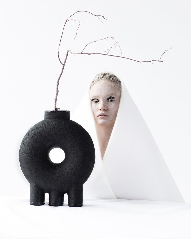 Ensemble of Sculpted Ceramic Vases by Victoria Yakusha For Sale 1
