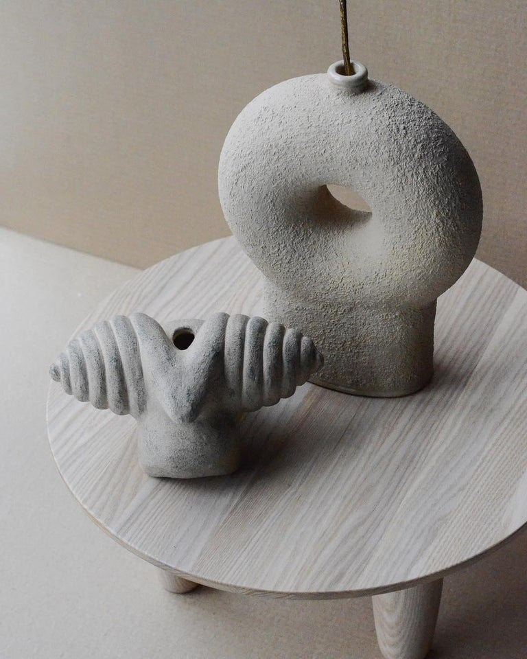Ensemble of Sculpted Ceramic Vases by Victoria Yakusha For Sale 2