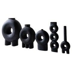Ensemble of Sculpted Ceramic Vases by FAINA