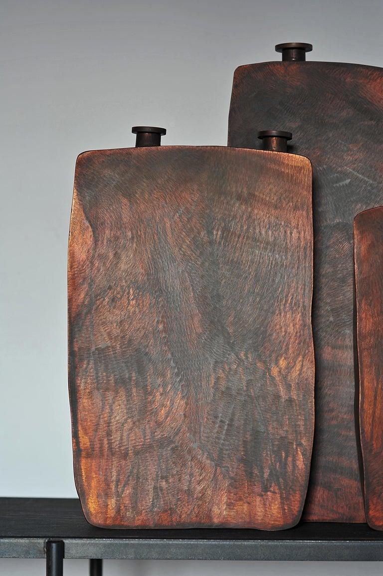 Ensemble of Three Brown Bottles by Lukasz Friedrich For Sale 3