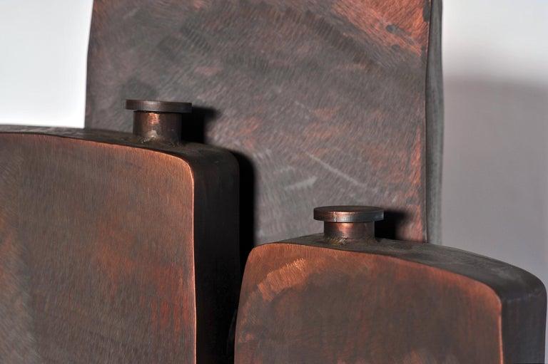 Ensemble of Three Brown Bottles by Lukasz Friedrich For Sale 4