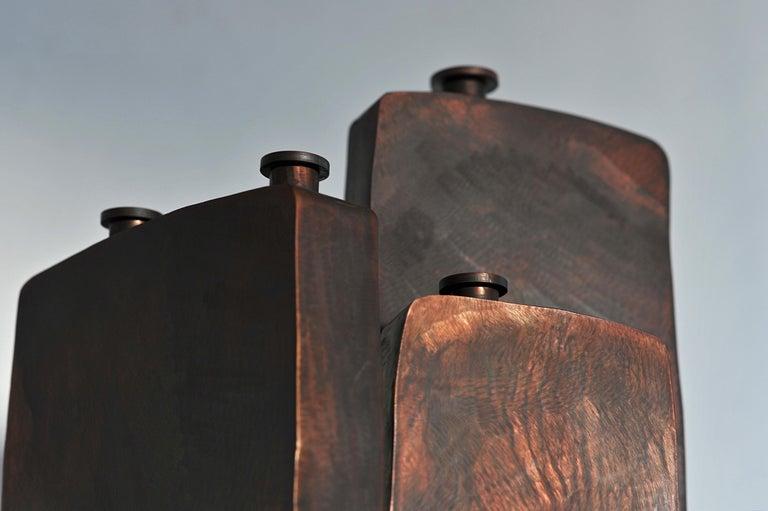 European Ensemble of Three Brown Bottles by Lukasz Friedrich For Sale