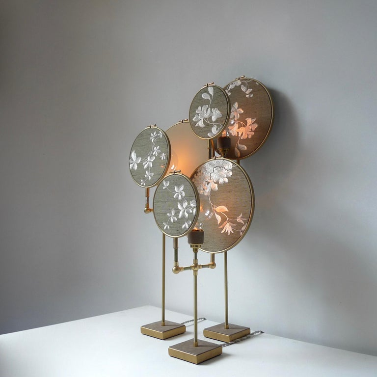 Dutch Ensemble of Three Table Lamps, Sander Bottinga For Sale
