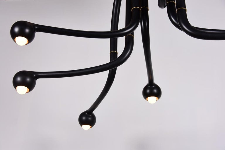 Entler Ceramic Eight-Globe Chandelier In New Condition For Sale In Los Angeles, CA