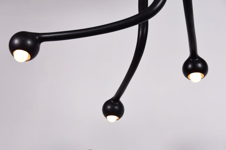 Entler Ceramic Eight-Globe Chandelier For Sale 2