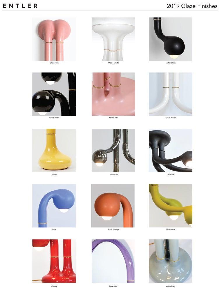 Entler Ceramic Eight-Globe Chandelier For Sale 6