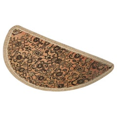 Entrance Mat Handmade Carpet Wool, Traditional Refurbish Oriental Rug Door Mat