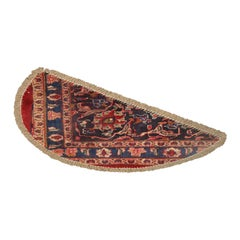 Entrance Mat Handmade Carpet Wool, Traditional Refurbished Oriental Rug Doormat