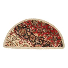 Entrance Way Handmade Carpet Mat, Semicircle Dust Barrier Oriental Rug for Sale
