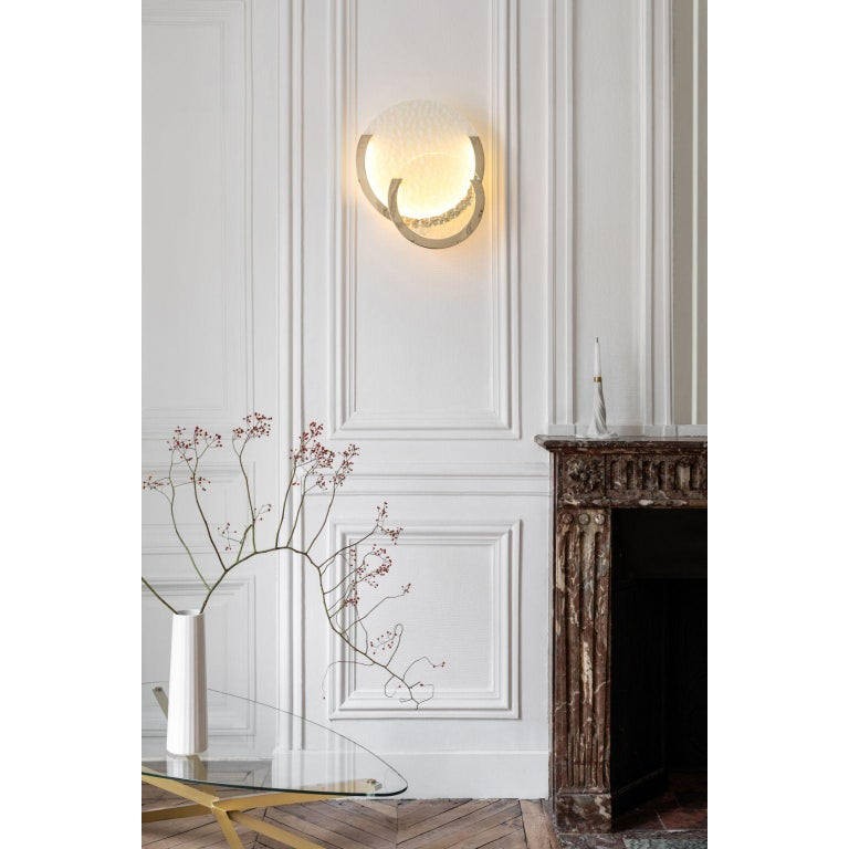Brass Entrelacs Wall Lamp by Mydriaz For Sale