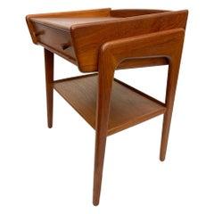 Entry Solid Teak Side Table by SV A. Madsen Karl Lindegaard