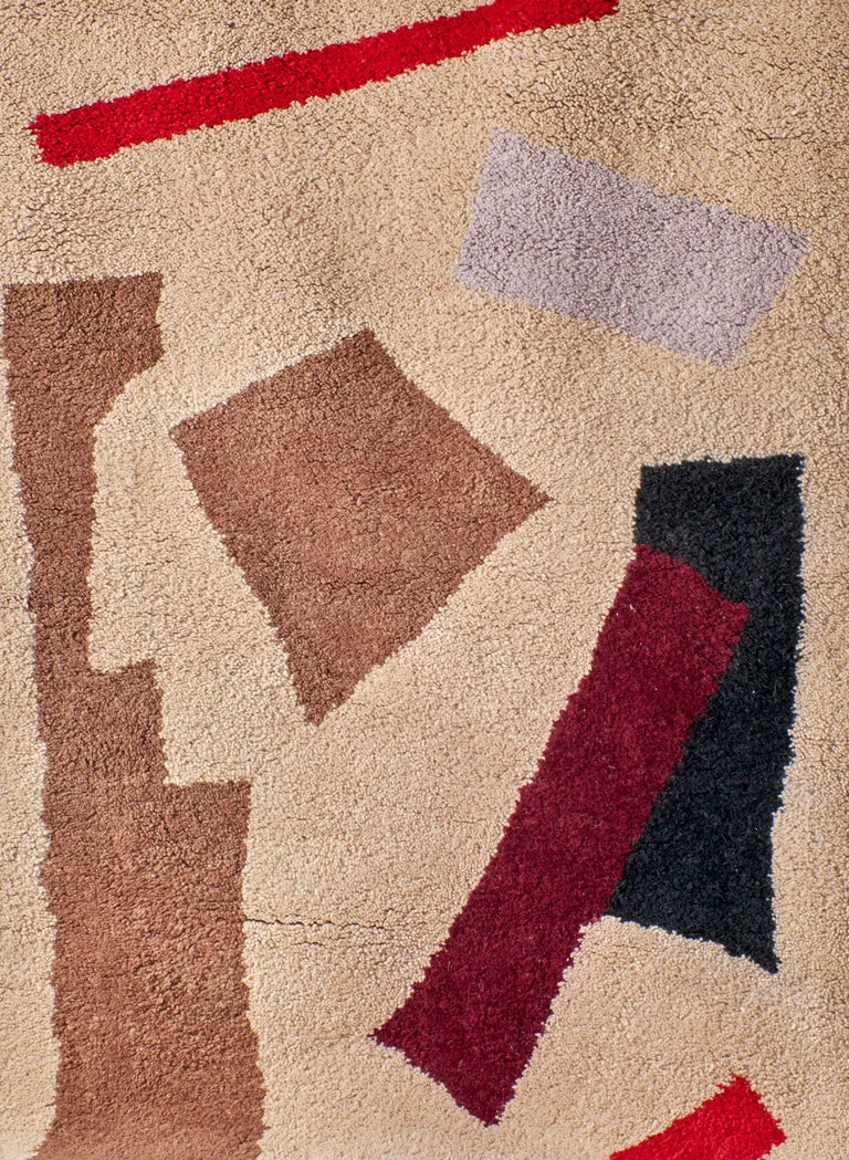 Hand-Knotted Moroccan Hand Knotted Wool Rug by Maria Jeglinska, 12x9 ft / 366 x 274cm For Sale