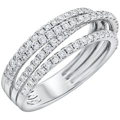 Entwined Four-Row Diamond Ring