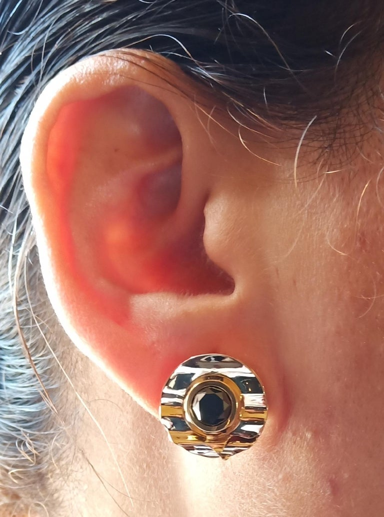 Women's Envious Eyes will Roll with Contemporary One of a Kind Black Diamond Earrings For Sale