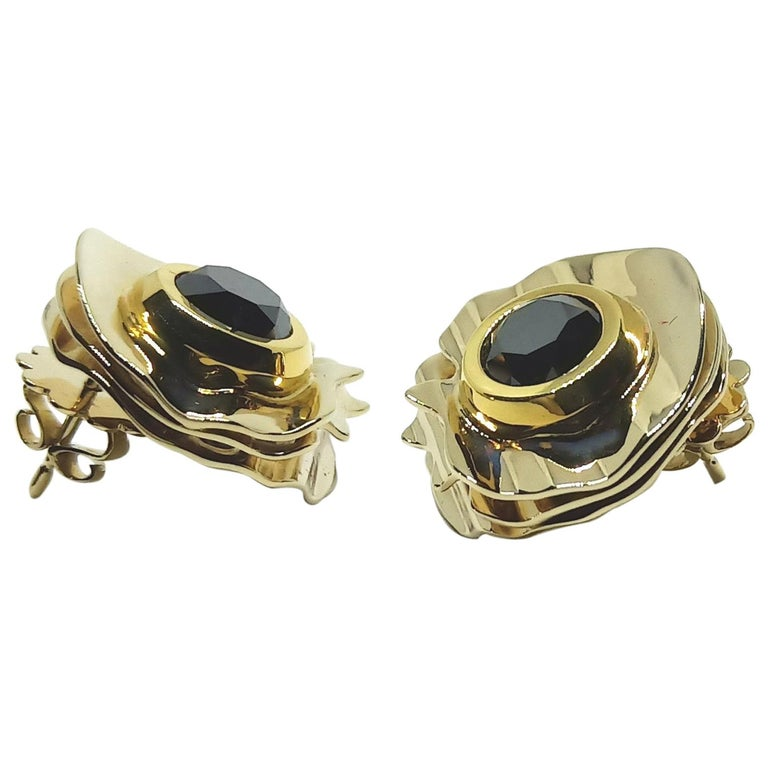 Envious Eyes will Roll with Contemporary One of a Kind Black Diamond Earrings For Sale