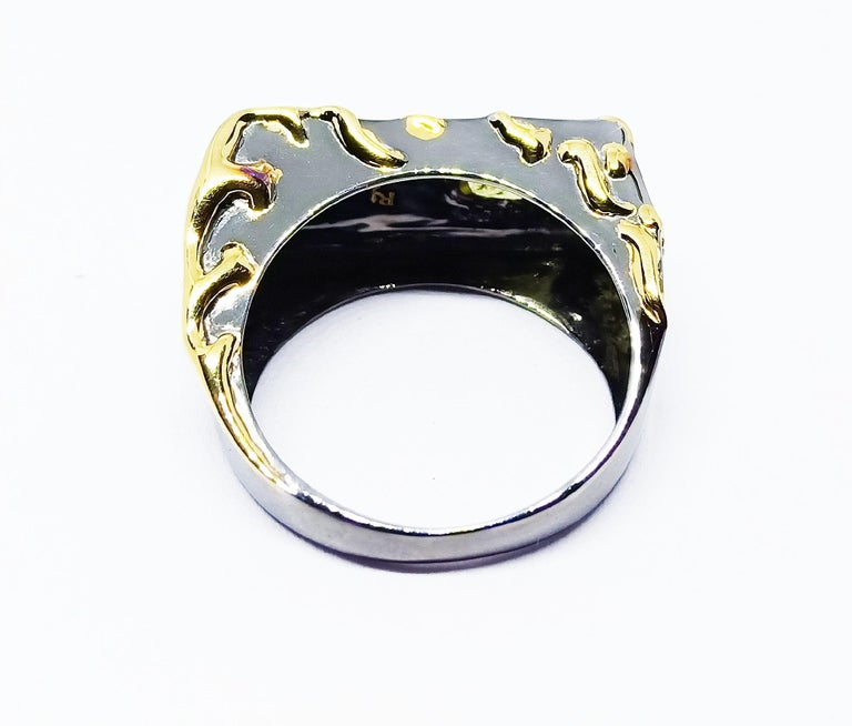 Envious Eyes will Roll with Contemporary One of a Kind Colored Diamond Gold Ring For Sale 5