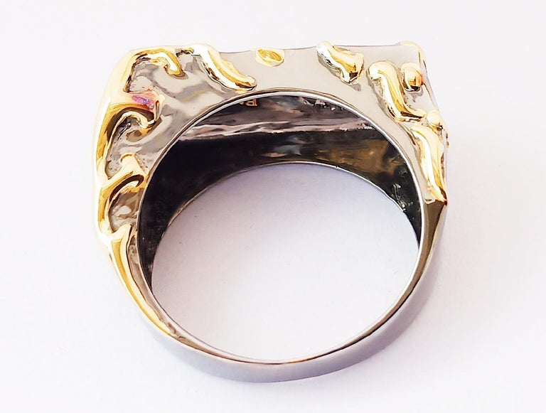 Envious Eyes will Roll with Contemporary One of a Kind Colored Diamond Gold Ring For Sale 1