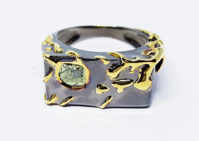 Envious Eyes will Roll with Contemporary One of a Kind Colored Diamond Gold Ring For Sale 3