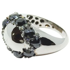 Envious Eyes will Roll with One of a Kind Black & White Diamond White Gold Ring