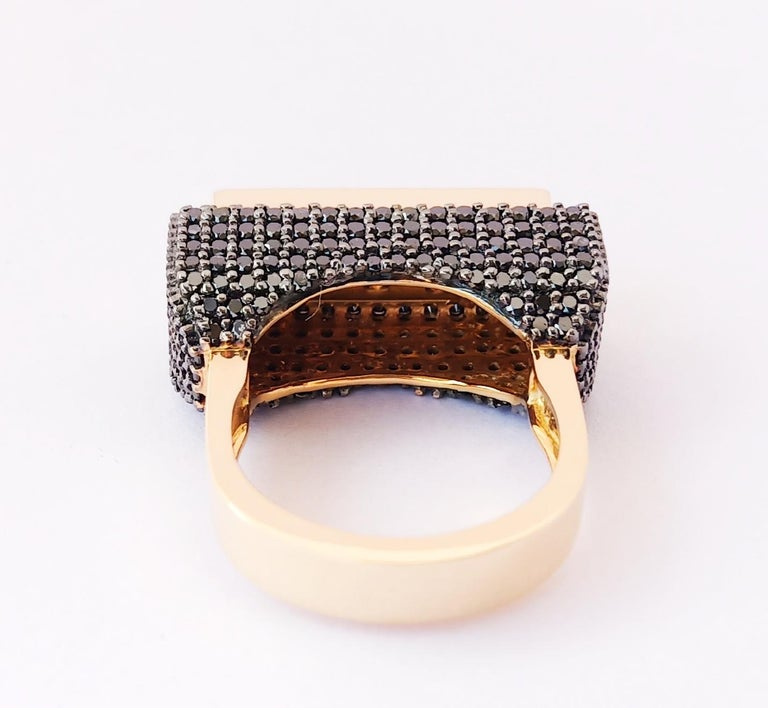 Envious Eyes will Roll with One of a Kind Colored Diamond Yellow Gold Ring For Sale 5