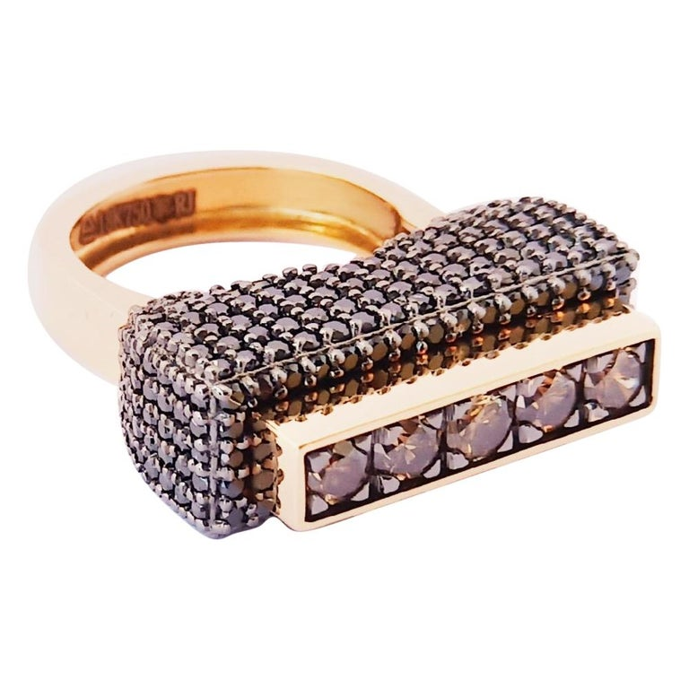 Envious Eyes will Roll with One of a Kind Colored Diamond Yellow Gold Ring For Sale
