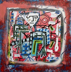 """""""Automa"""" by Enzio Wenk, 2018 - Mixed Media on Canvas, Neo-Expressionism"""