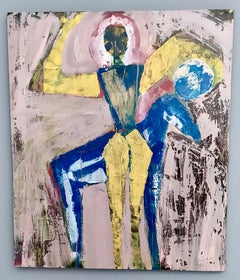 """""""Giocoliere"""" by Enzio Wenk, 2020 - Mixed Media on Canvas, Neo-Expressionism"""