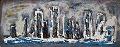 """Il motivo di un viaggio"" by Enzio Wenk, 2006 - Acrylic on Metal, Expressionism"