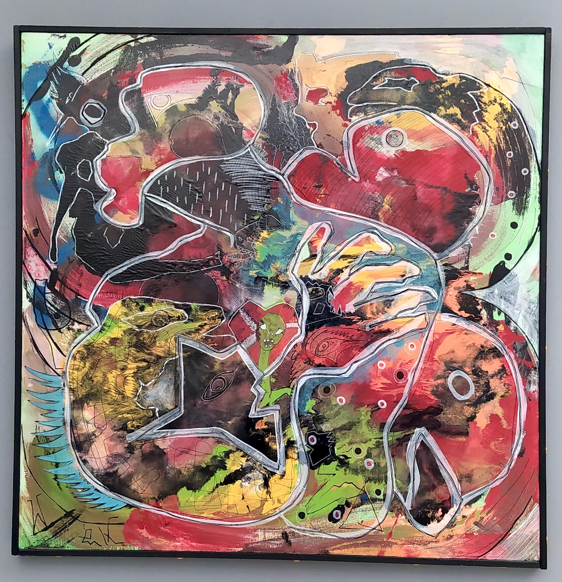 """""""Macaco"""" by Enzio Wenk, 2018 -Acrylic on Canvas, Neo-Expressionism"""