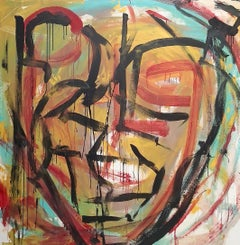 """""""Senza Narrazione - 1 """" by Enzio Wenk, 2019 - Acrylic Enamel on Canvas"""