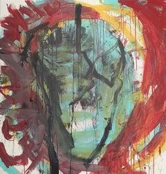 """""""Senza Narrazione - 2 """" by Enzio Wenk, 2019 - Acrylic Enamel on Canvas"""