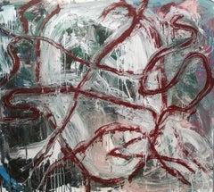"""""""Senza Narrazione - 6 """" by Enzio Wenk, 2019 - Acrylic Enamel on Canvas"""