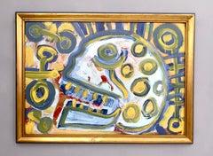 """Teschio"" by Enzio Wenk, 2019 - Acrylic on Masonite, Expressionism, Italy"