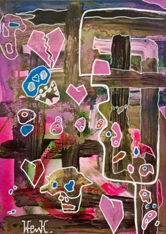 """Uomo alla finestra (sbarre)"" by Enzio Wenk, 2018-Acrylic, Oil, Expressionism"