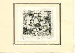 Composition - Original Etching by Enzo Brunori - 1961