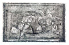 Lying Figures - Original Etching by E. Brunori - 1965
