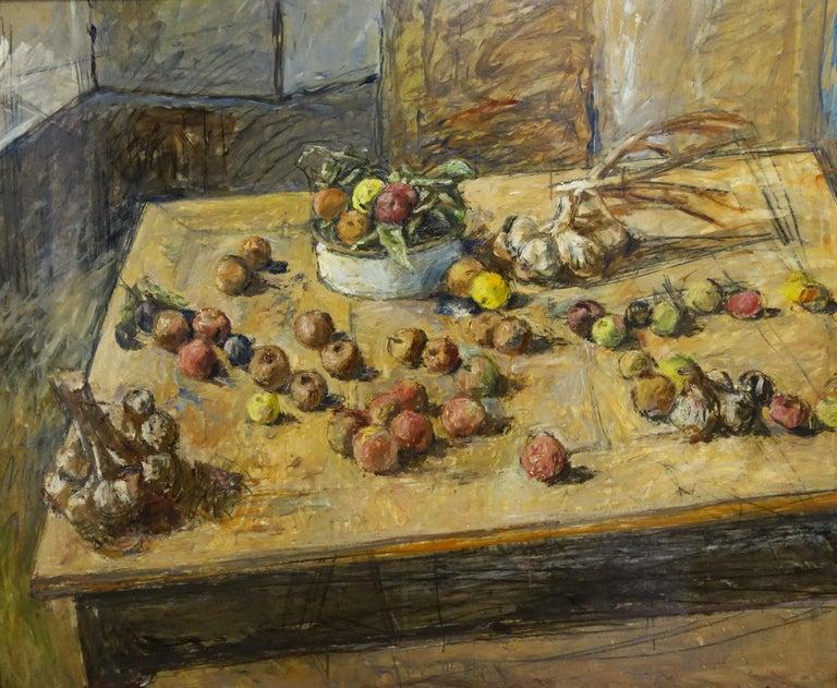 "Enzo FARAONI Interior Painting - ""Big still life "" Sill life,Fruit,Dining room  cm. 120 x 100  Oil"