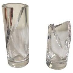 Enzo Mari Modern Italian Athena Crystal Vases for Arnolfo di Cambio, Italy