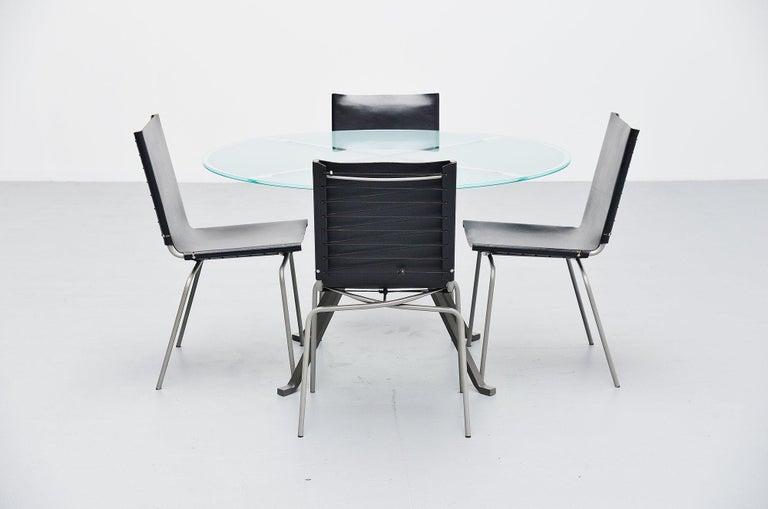 Metal Enzo Mari Cugino Dining Table Driade, Italy, 1973 For Sale