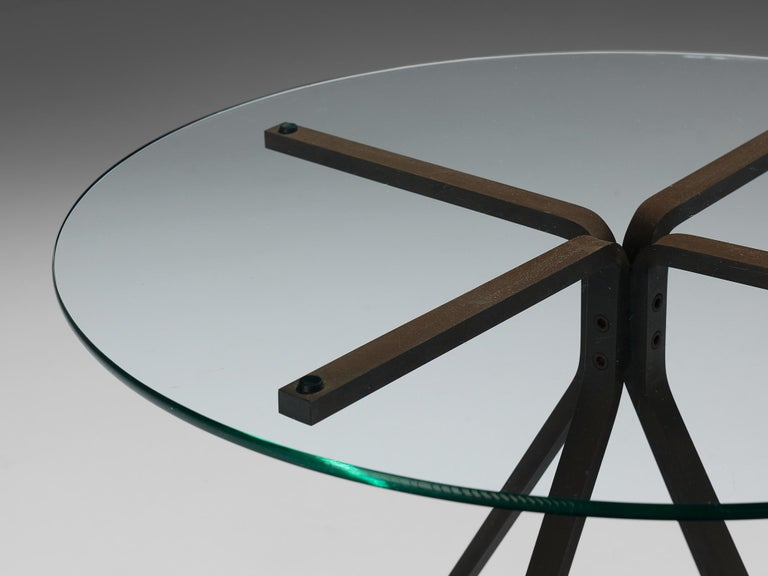 Brushed Enzo Mari for Driade 'Cuginetto' Coffee Table For Sale