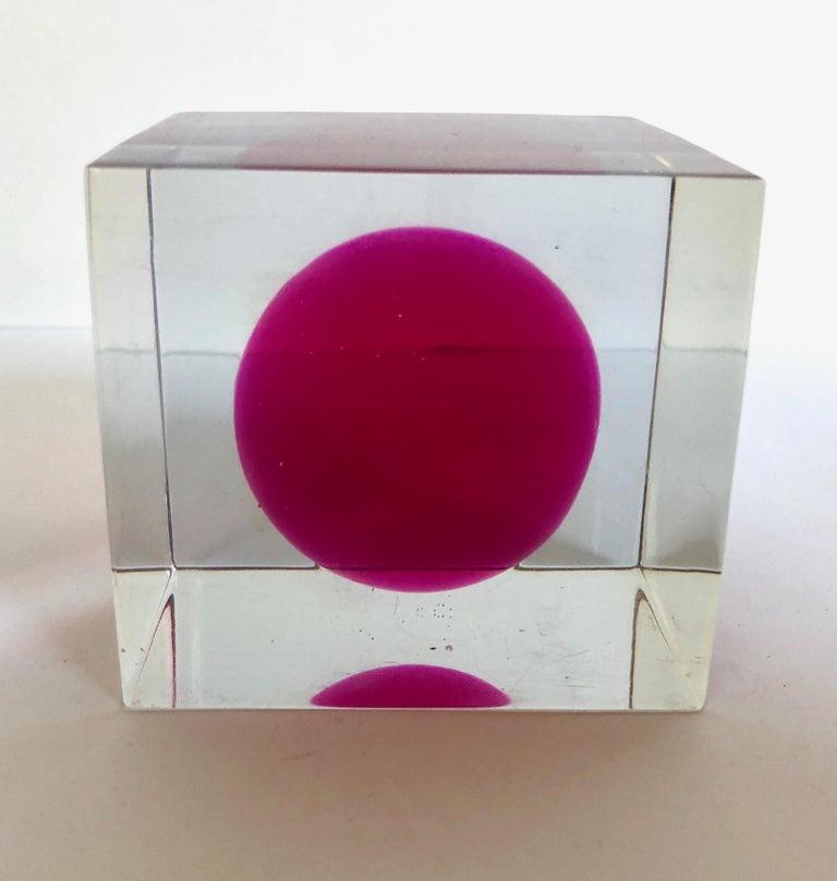 Enzo Mari Lucite Sculpture For Sale 1