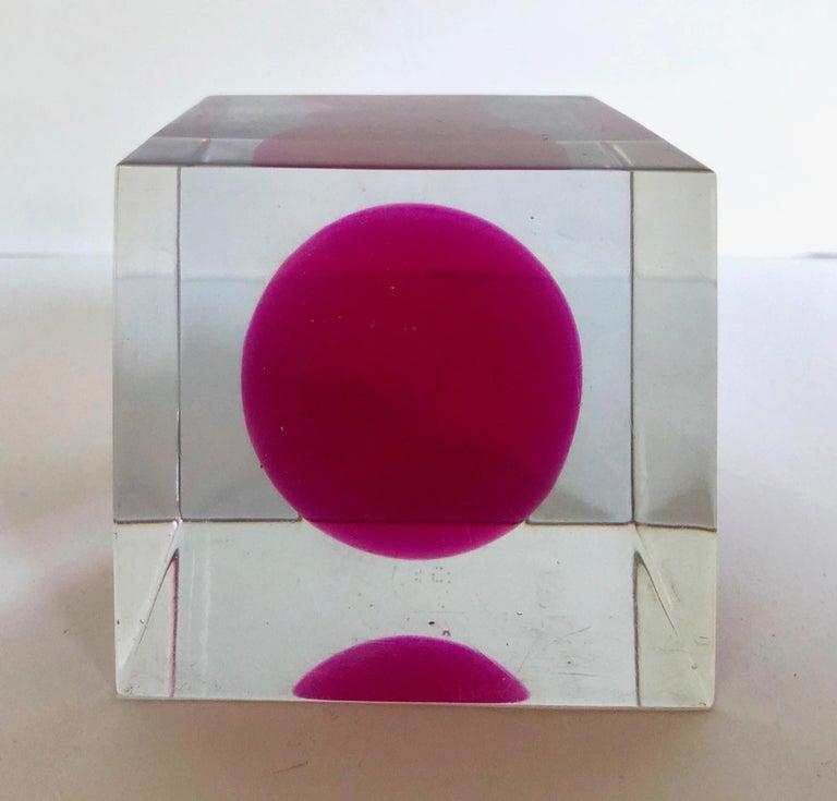 Enzo Mari Lucite Sculpture For Sale 2