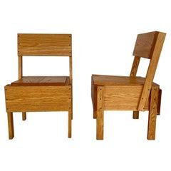 Enzo Mari Wood Chairs