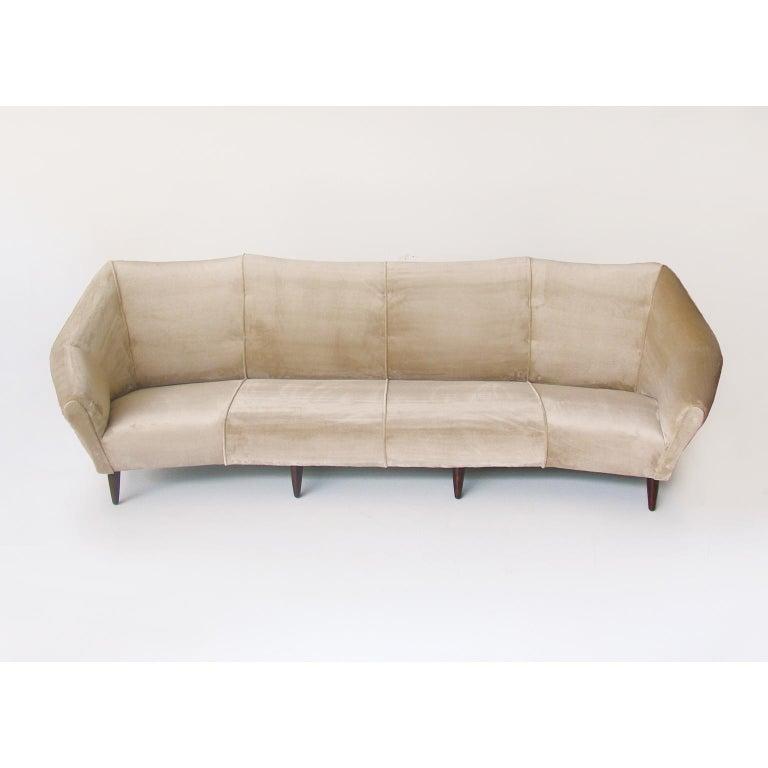 Enzo Minotti Four Seat Italian Sofa In Luxurious Velvet