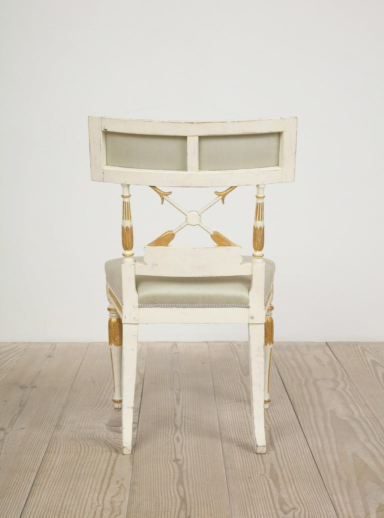 Ephraim Ståhl, Late Gustavian / Early Empire Chairs, Pair, Circa 1800 For Sale 3