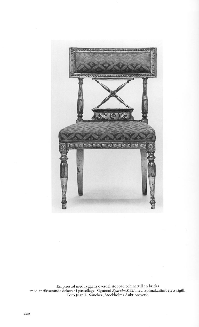 Ephraim Ståhl, Late Gustavian / Early Empire Chairs, Pair, Circa 1800 For Sale 8